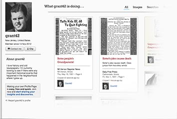Profile page on Pensacola News Journal Archive